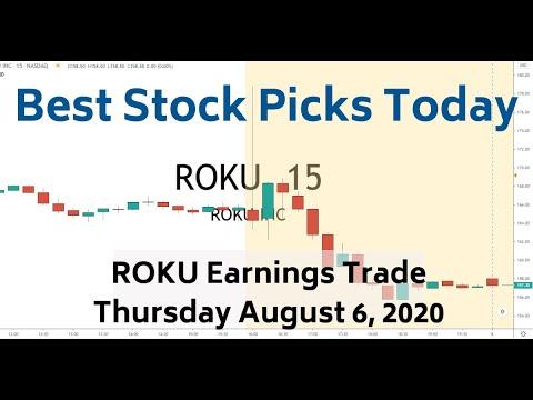 ROKU Earnings Trade 8-6-20 | Best Stock Picks Today