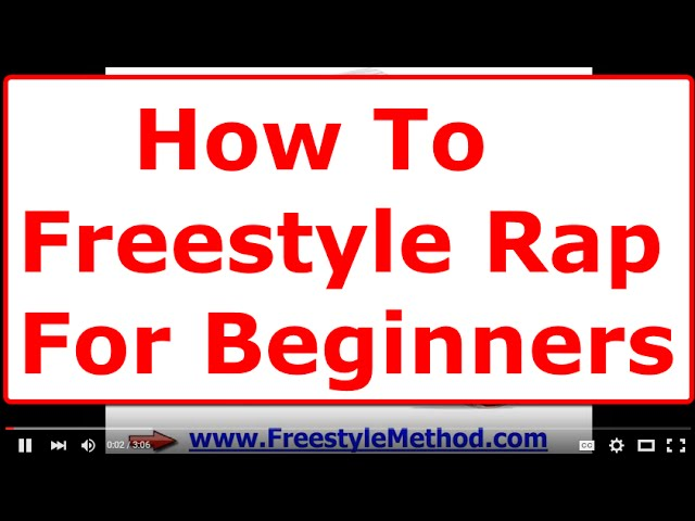 How To Freestyle Rap For Beginners Step By