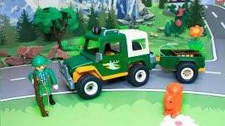 Видео для детей с игрушечными машинками - Браконьеры.