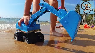 Спортивные машинки, экскаватор, пляж в Паттайе. МанкиТайм в Таиланде