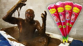 I Took A Bath In 80 Litres Of Henna Ink..