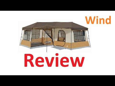 Ozark trails 3 room cabin tent review – wind test