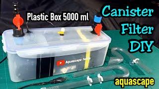 Making DIY Canister Filter for Aquarium, Long Plastic Box