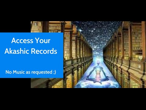 Access your Akashic Records Meditation - no music!