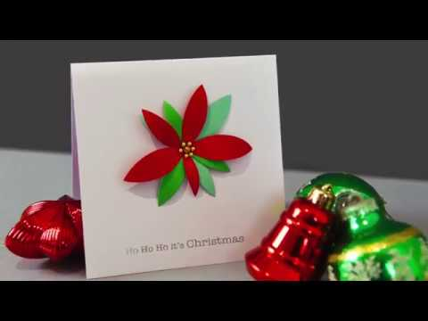 Make a poinsettia from a circle die