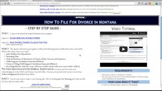 Free Montana Divorce Papers and Forms