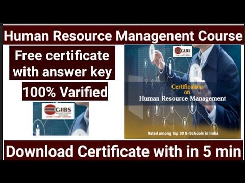 HR Free certificate | Human Resource management free certification | Free course | HRM Free course