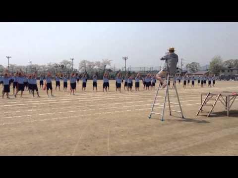 石鳥谷中学校 H26体育祭アピール応援(赤組)