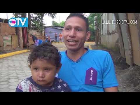 Familias del Andrés Vega inauguran calle adoquinada