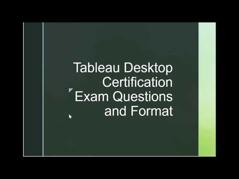 Tableau Desktop Specialist (Jun 2020) real exam questions ...