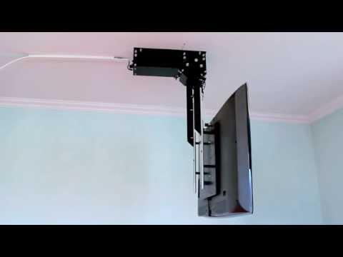 TV Deckenhalter flasy TELE, elektrisch schwenkbar und absenkbar