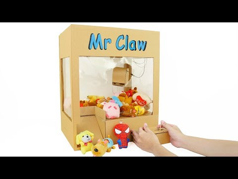 How to Make Powered Claw Machine from Cardboard