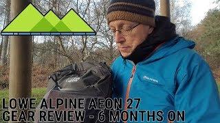 Lowe Alpine Aeon 27 pack - Six months hard core use