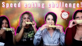 SPEED EATING CHALLENGE! (HILARIOUS) l JAMS FAMILY