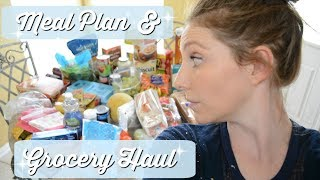 GROCERY HAUL | WORKING MOM MEAL PLAN | EASY MEAL PREP | LARGE WEEKLY GROCERY HAUL