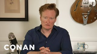 Conan responds to the needless death of George Floyd and our national crisis.  More CONAN @ http://teamcoco.com/video Team Coco is the official YouTube channel of late night host Conan O'Brien, CONAN on TBS & TeamCoco.com. Subscribe now to be updated on the latest videos: http://bit.ly/W5wt5D For Full Episodes of CONAN on TBS, visit http://teamcoco.com/video Get Social With Team Coco: On Facebook: ‪https://www.facebook.com/TeamCoco‬ On Google+: https://plus.google.com/+TeamCoco/ On Twitter: http://twitter.com/TeamCoco On Tumblr: http://teamcoco.tumblr.com On YouTube: http://youtube.com/teamcoco Follow Conan O'Brien on Twitter: http://twitter.com/ConanOBrien