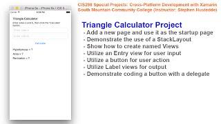 Xamarin 02B - Triangle Calculator Project