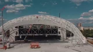 """Етап от изграждането на зала """"Арена Бургас"""""""