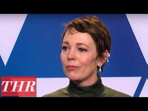 Oscar Winner Olivia Colman Full Press Room Speech | THR