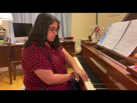 """My advanced student Mona Nur playing """"Lunar Eclipse,"""" a great exploration of the minor key!"""