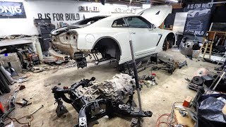 Replacing the Subframe on my Totalled R35 GT-R