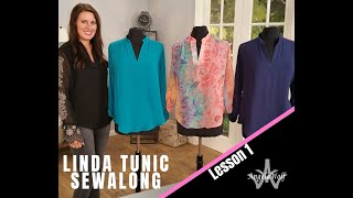 LINDA TUNIC SEWALONG LESSON 1: HOW TO SEW FRONT PLACKET & COLLAR