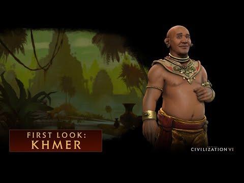 Jayavarman VII lidera el Imperio Jemer en Civilization VI