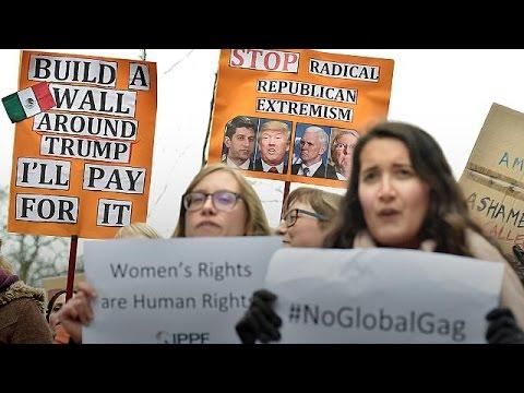 Βρυξέλλες: Διαδήλωση εναντίον των πολιτικών Τραμπ