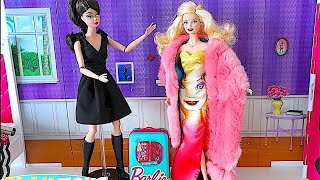 Magic Barbie Doll Saves Barbie Girl Dress and Make up Party! 🎀