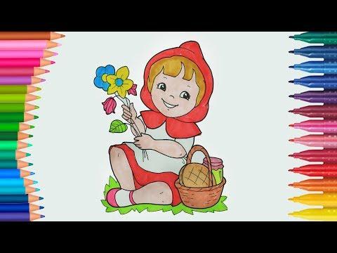Download Kırmızı Başlıklı Kız çizgi Film Ve Masal Karakteri Boyama