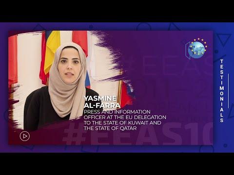 EEAS10 Staff testimonial - Yasmine Al-Farra