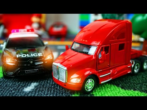 Машинки Police Car Play Car toy videos for kids - Играем в тачки