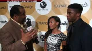 Chadwick Boseman & Nicole Beharie Talk With Roland Martin About 42 In An Exclusive Interview