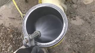 Concrete pump how to suck back the sponge