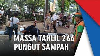 Massa Tahlil Akbar 266 Tertib Bubarkan Diri hingga Ikut Bersih-bersih Sampah