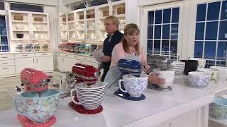 KitchenAid C/O Patterned Or Textured 5-qt Ceramic Mixing Bowls On QVC