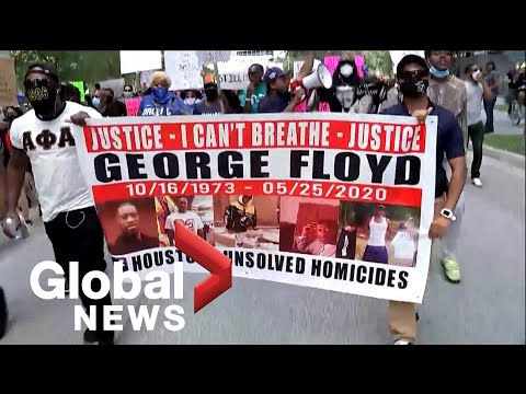 George Floyd death: Demonstrators take to the streets in cities across the U.S.
