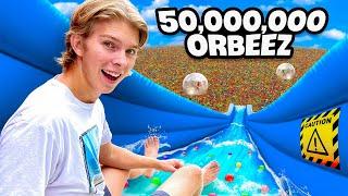 We Built the Worlds 1st ORBEEZ Waterpark!! *MEGA WATERSLIDE RAMP*