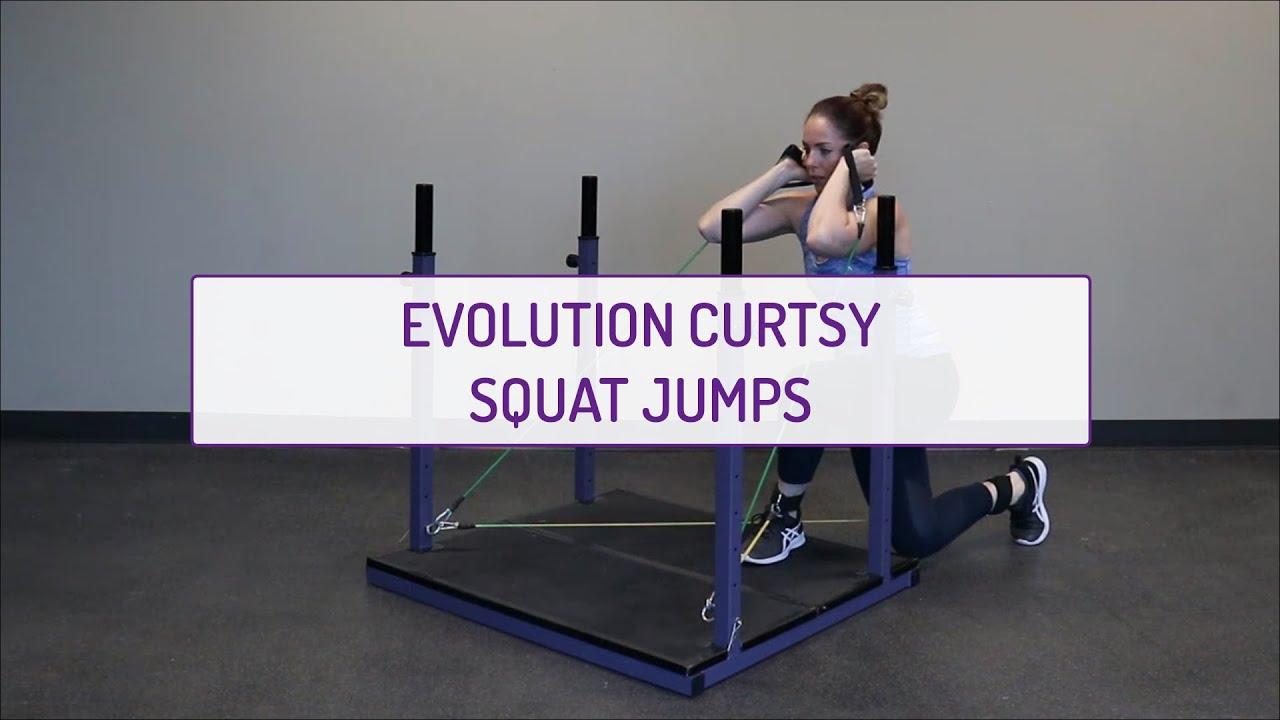 Evolution Curtsy Squat Jumps