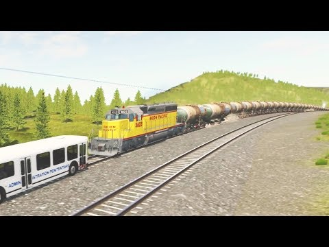 LONGEST TRAIN in BEAMNG - BeamNG Drive (Train Accidents #6)