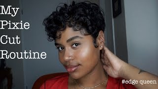My Curly Pixie Cut Routine