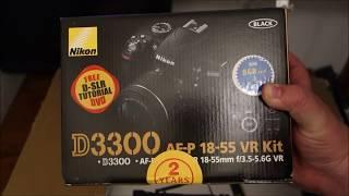 Nikon D3300 Camera Bundle Unboxing