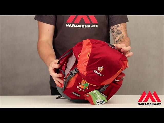 Видео Рюкзак детский Deuter Waldfuchs 14 maron-cardinal