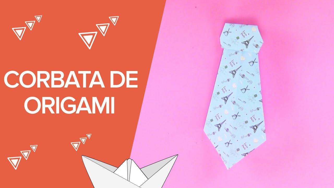 Cómo hacer una corbata de origami | Papiroflexia infantil