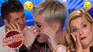 There's not a dry eye in the house! We've chosen the TOP 3 most EMOTIONAL Singing auditions from American Idol, X Factor UK and Australia's Got Talent! Try not to cry - we definitely did!