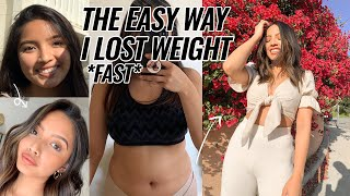 HOW I LOST WEIGHT *EASY LIFE-CHANGING TIPS*   GLOW UP IN QUARANTINE