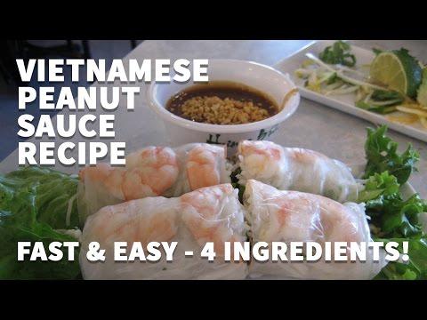 How to make Vietnamese Peanut Sauce for Spring Rolls – Goi Cuon Bo Bia Hoisin Dipping Sauce Recipe