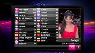 BBC - Eurovision 2011 final - full voting & winning Azerbaijan
