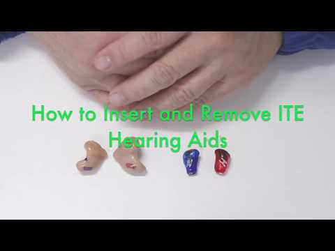 How to Insert and Remove ITE Hearing Aids