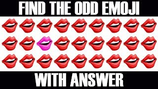 Spot The Odd Emoji One Out | Find The Odd One Out | Emoji Movie Games | Find The Difference